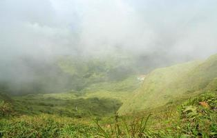 Mount Pelee in Martinique Island, Frankrijk. foto