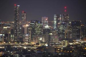 's nachts de stad van Brisbane