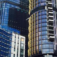 nieuwe kantoorgebouwen in een nieuw zakendistrict in Sydney foto