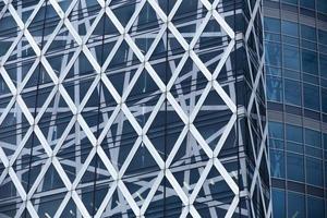 venster van Tokyo Shinjuku hoogbouw foto