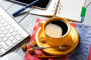 zwarte koffie foto