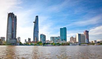 panoramisch uitzicht over ho chi minh stad, vietnam.