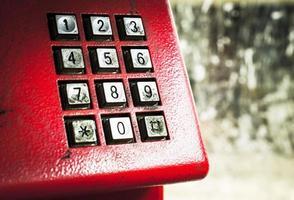 vuile vlekken op het telefoonklavier foto