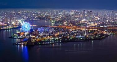nacht uitzicht op Osaka foto