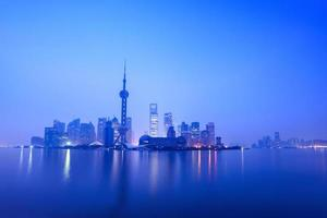 stilte van de dageraad in Shanghai foto