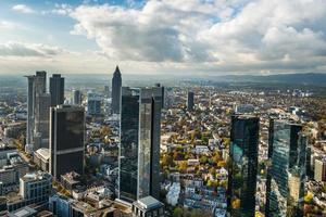 Frankfurt Duitsland skyline foto