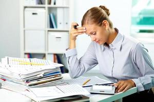 accountant op het werk foto