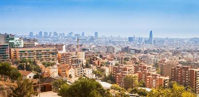 skyline van barcelona foto