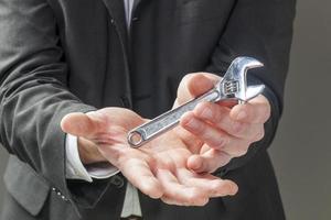 concept van handmatige versus intellectuele engineering management foto