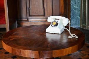 witte telefoon foto