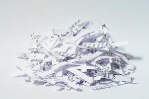 versnipperd papier foto