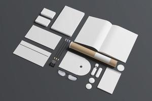 lege briefpapier geïsoleerd op grijs