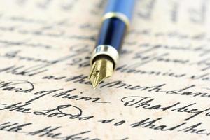 oude brief foto