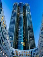 wolkenkrabber in de zakenwijk van Frankfurt foto