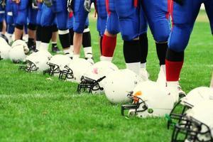 team - Amerikaans voetbalconcept foto