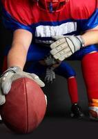 American football-speler foto