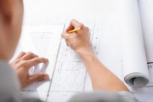 schetsen bouwproject foto