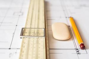 hulpmiddelen voor schetsen en schema foto