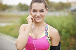 muziek is verplicht tijdens het joggen