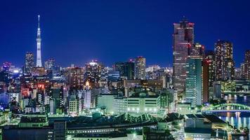 Tokyo Japan skyline van de stad foto