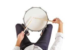 hoe de drums te bespelen foto