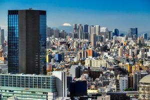 de skyline van tokyo, japan. foto
