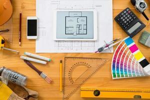 ontwerpers tafel foto
