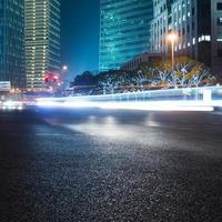 nachtscène van de moderne stad foto