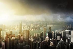 Hong Kong Island vanaf Victoria's Peak foto