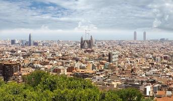 panoramisch uitzicht over barcelona foto