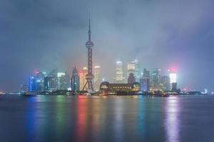 skyline van shanghai foto