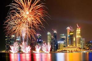 vuurwerk in singapore foto
