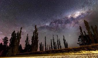 sterren melkweg ruimte foto