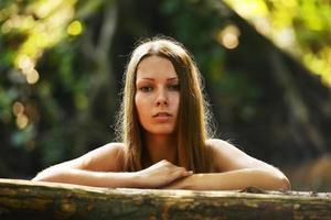 portret van mooie vrouw foto