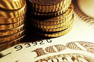 euromunten en ons dollar bankbiljet achtergrond. foto