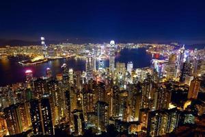 hong kong stadsnacht foto