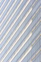 ramen glas gebouw in de stad. foto