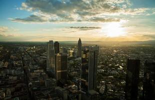 panoramisch uitzicht over Frankfurt am Main foto