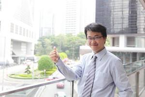 glimlach zakenman foto