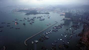 commerciële haven van hong kong foto