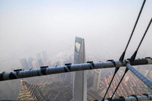 shanghai toren, 110 verdieping, mist en nevel foto