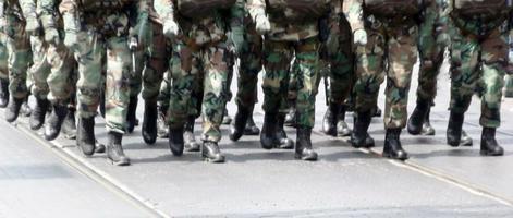 troepen marcheren foto