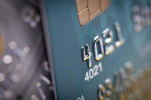 sluit omhoog van creditcard foto