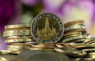 Thaise baht-munten foto