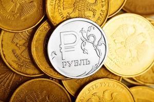 Russische roebels foto