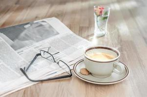 ontbijt van een zakenman foto