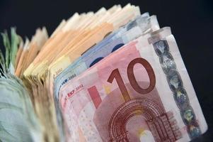 eurobankbiljetten foto