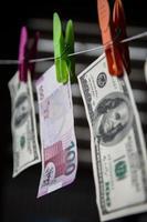 Azerbeidzjaanse manat en dollar foto