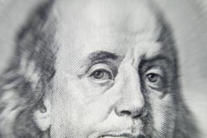 Benjamin Franklin's portret foto
