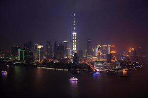 lu jiazui economische zone in pudong, shanghai foto